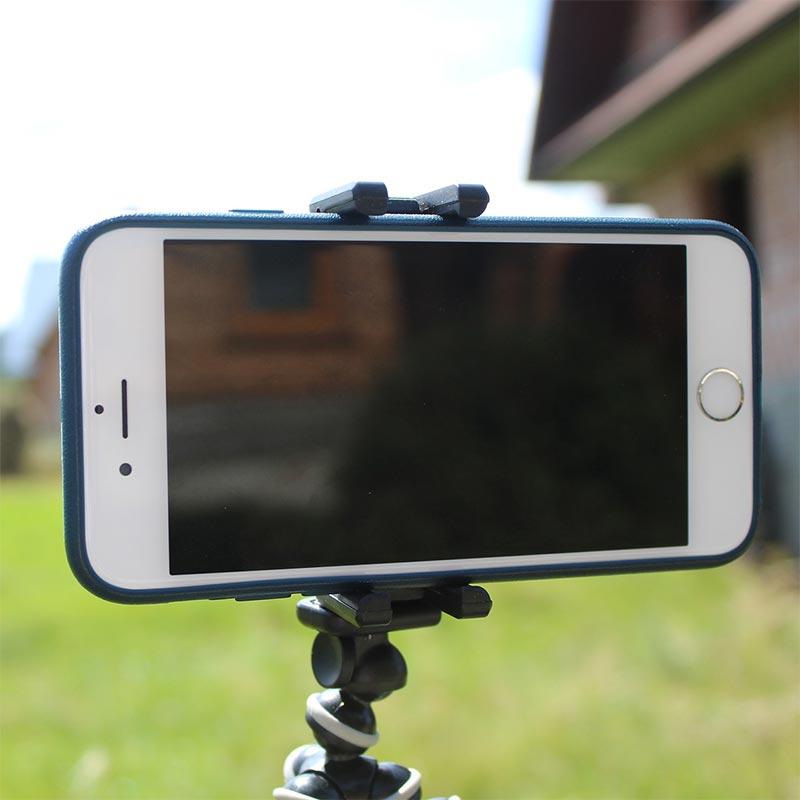 Smartphone am Stativ